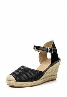 Босоножки, Catisa, цвет: черный. Артикул: CA072AWTFO37. Женская обувь / Босоножки