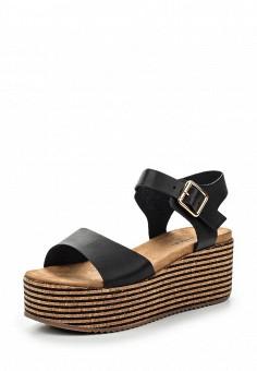 Босоножки, Catisa, цвет: черный. Артикул: CA072AWTFO44. Женская обувь / Босоножки