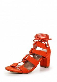 Босоножки, Catisa, цвет: оранжевый. Артикул: CA072AWTFP02. Женская обувь / Босоножки
