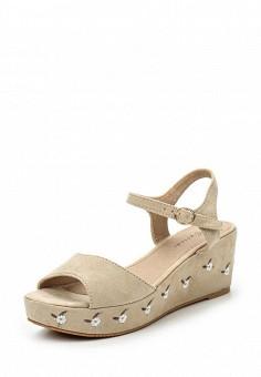 Босоножки, Catisa, цвет: бежевый. Артикул: CA072AWTFP61. Женская обувь / Босоножки