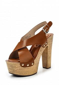 Босоножки, Catisa, цвет: коричневый. Артикул: CA072AWTFP68. Женская обувь / Босоножки