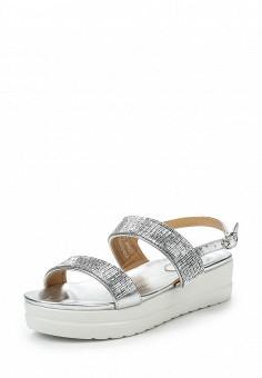 Босоножки, Catisa, цвет: серебряный. Артикул: CA072AWTFQ15. Женская обувь / Босоножки
