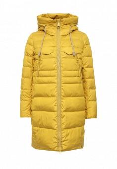 Куртка утепленная, Clasna, цвет: желтый. Артикул: CL016EWNLS13. Женская одежда / Верхняя одежда / Пуховики и зимние куртки