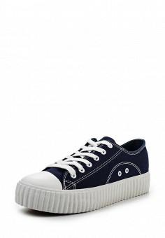 Кеды, Coolway, цвет: синий. Артикул: CO047AWRWR34. Женская обувь / Кроссовки и кеды