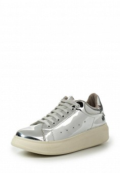 Кеды, Coolway, цвет: серебряный. Артикул: CO047AWRWR38. Женская обувь / Кроссовки и кеды