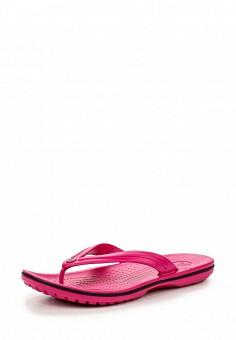 Сланцы, Crocs, цвет: розовый. Артикул: CR014AWIEC30. Женская обувь / Шлепанцы и акваобувь