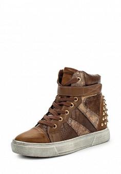 Кеды на танкетке, Damerose, цвет: коричневый. Артикул: DA016AWKKG36. Женская обувь / Кроссовки и кеды