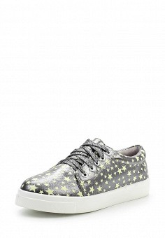Кеды, Dino Ricci Trend, цвет: серебряный. Артикул: DI029AWQYY09. Женская обувь / Кроссовки и кеды