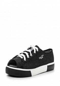 Кеды, Dino Ricci Trend, цвет: черный. Артикул: DI029AWQYY12. Женская обувь / Кроссовки и кеды