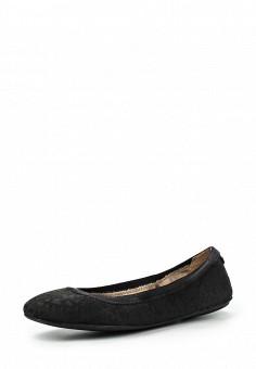 Балетки, DKNY, цвет: черный. Артикул: DK001AWIRK84. Премиум / Обувь / Балетки