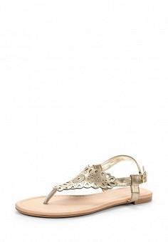 Сандалии, Dorothy Perkins, цвет: золотой. Артикул: DO005AWTWD78. Женская обувь / Сандалии
