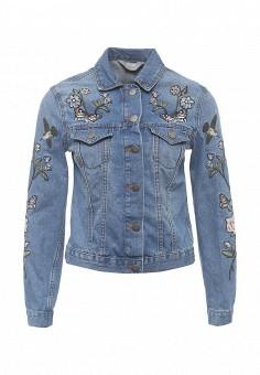Куртка джинсовая, Dorothy Perkins, цвет: синий. Артикул: DO005EWSCL95. Женская одежда / Тренды сезона / Летний деним / Джинсовые куртки