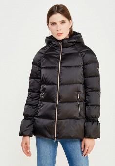 Пуховик, EA7, цвет: черный. Артикул: EA002EWUEJ22. Премиум / Одежда / Верхняя одежда / Пуховики и зимние куртки