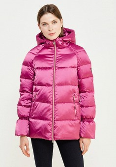 Пуховик, EA7, цвет: розовый. Артикул: EA002EWUEJ24. Премиум / Одежда / Верхняя одежда / Пуховики и зимние куртки