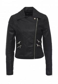 Куртка кожаная, Edge Street, цвет: черный. Артикул: ED008EWQBZ92. Женская одежда / Верхняя одежда / Кожаные куртки