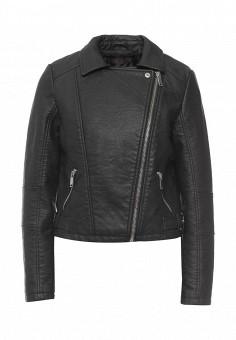 Куртка кожаная, Edge Street, цвет: черный. Артикул: ED008EWQBZ93. Женская одежда / Верхняя одежда / Кожаные куртки