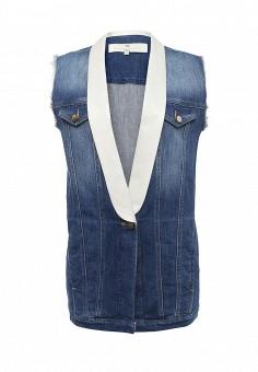 Жилет джинсовый, Elisabetta Franchi, цвет: синий. Артикул: EL037EWQCZ47. Женская одежда / Верхняя одежда / Жилеты / Джинсовые жилеты