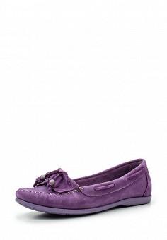 Мокасины, El Tempo, цвет: фиолетовый. Артикул: EL072AWQHE89. Женская обувь / Мокасины и топсайдеры