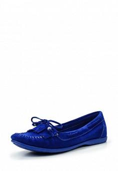 Мокасины, El Tempo, цвет: синий. Артикул: EL072AWQHE90. Женская обувь / Мокасины и топсайдеры