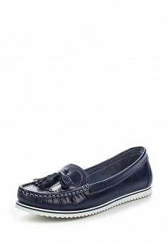 Мокасины, El Tempo, цвет: синий. Артикул: EL072AWQHE95. Женская обувь / Мокасины и топсайдеры
