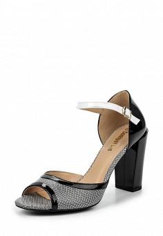 Босоножки, Conhpol-Bis, цвет: черно-белый. Артикул: ER946AWRBY61. Женская обувь / Босоножки