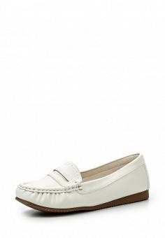 Мокасины, Exquily, цвет: белый. Артикул: EX003AWRPR58. Женская обувь / Мокасины и топсайдеры