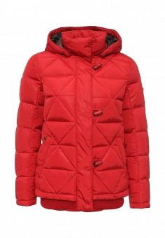 Пуховик, FiNN FLARE, цвет: красный. Артикул: FI001EWKHE88. Женская одежда / Верхняя одежда