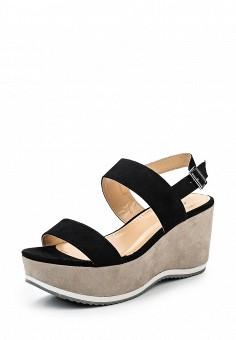 Босоножки, Flyfor, цвет: черный. Артикул: FL009AWSVB69. Женская обувь / Босоножки