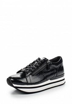 Кеды, Fornarina, цвет: черный. Артикул: FO019AWRSG58. Женская обувь / Кроссовки и кеды