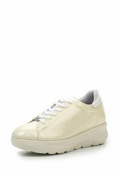 Кроссовки, Fornarina, цвет: бежевый. Артикул: FO019AWRSG67. Женская обувь / Кроссовки и кеды