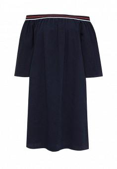 Платье джинсовое, Fornarina, цвет: синий. Артикул: FO019EWRSO58. Женская одежда / Платья и сарафаны / Летние платья