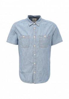 Рубашка джинсовая, Gap, цвет: голубой. Артикул: GA020EMQAK57. Мужская одежда / Рубашки