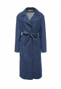 Плащ, Gap, цвет: синий. Артикул: GA020EWNQS10. Женская одежда / Верхняя одежда / Плащи и тренчкоты