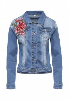 Куртка джинсовая, G&G, цвет: голубой. Артикул: GG001EWRCI75. Женская одежда / Верхняя одежда / Джинсовые куртки