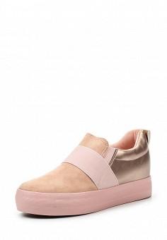 Кеды на танкетке, Girlhood, цвет: розовый. Артикул: GI021AWRMX33. Женская обувь / Кроссовки и кеды