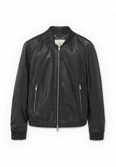 Куртка, Mango Man, цвет: черный. Артикул: HE002EMPPK72. Мужская одежда / Верхняя одежда / Кожаные куртки