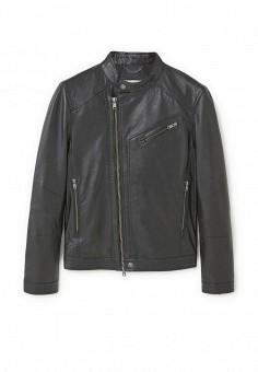 Куртка кожаная, Mango Man, цвет: черный. Артикул: HE002EMQOM64. Мужская одежда / Верхняя одежда / Кожаные куртки