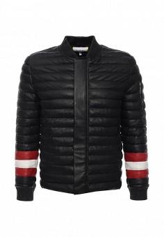 Куртка кожаная, Iceberg, цвет: черный. Артикул: IC461EMJGY16. Мужская одежда / Верхняя одежда / Кожаные куртки