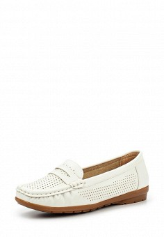 Мокасины, Instreet, цвет: белый. Артикул: IN011AWPRC14. Женская обувь / Мокасины и топсайдеры
