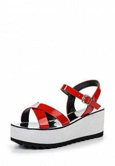 Босоножки, Inario, цвет: красный. Артикул: IN029AWQQX96. Женская обувь / Босоножки