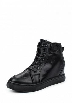 Кеды на танкетке, Janessa, цвет: черный. Артикул: JA026AWPSX10. Женская обувь / Кроссовки и кеды / Кеды
