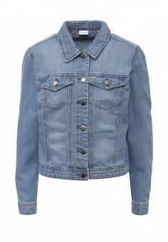 Куртка джинсовая, Jacqueline de Yong, цвет: синий. Артикул: JA908EWPAL75. Женская одежда / Верхняя одежда / Джинсовые куртки