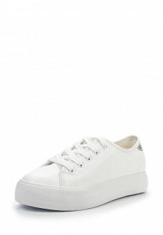 Кеды, Jennyfer, цвет: белый. Артикул: JE008AWQLG35. Женская обувь / Кроссовки и кеды