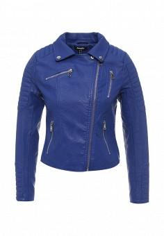 Куртка кожаная, Jennyfer, цвет: синий. Артикул: JE008EWSFH40. Женская одежда / Верхняя одежда / Косухи