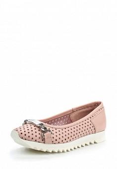 Балетки, John Galliano, цвет: розовый. Артикул: JO658AWQEM44. Премиум / Обувь / Балетки