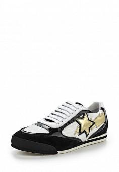 Кроссовки, Just Cavalli, цвет: черно-белый. Артикул: JU662AWOOU23. Премиум / Обувь / Кроссовки и кеды / Кроссовки