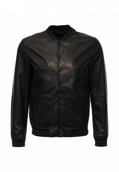 Куртка кожаная, Kenneth Cole, цвет: коричневый. Артикул: KE008EMJRW38. Мужская одежда / Верхняя одежда / Кожаные куртки