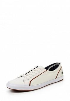 Кеды, Lacoste, цвет: белый. Артикул: LA038AWPZO17. Женская обувь / Кроссовки и кеды