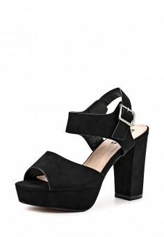Босоножки, LOST INK, цвет: черный. Артикул: LO019AWOVU55. Женская обувь / Босоножки