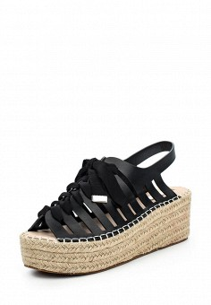 Босоножки, LOST INK, цвет: черный. Артикул: LO019AWPUV29. Женская обувь / Босоножки